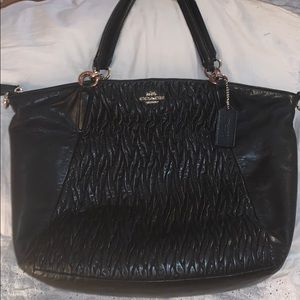 Preowned Coach Black Leather Bag in Good Condition